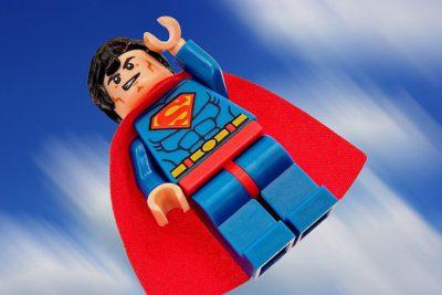 Superman som en legofigur