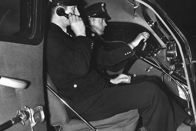 Första radiobilarna kom i drift 1940. BILD: SYDSVENSKANS ARKIV.