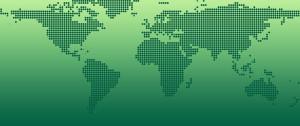 En grön världskarta