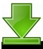 En grön pil som pekar nedåt