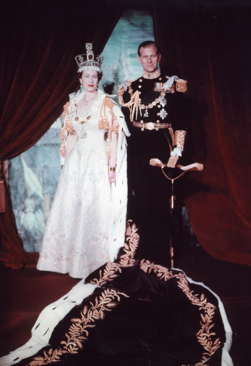 Drottning Elizabeth kröntes år 1953.