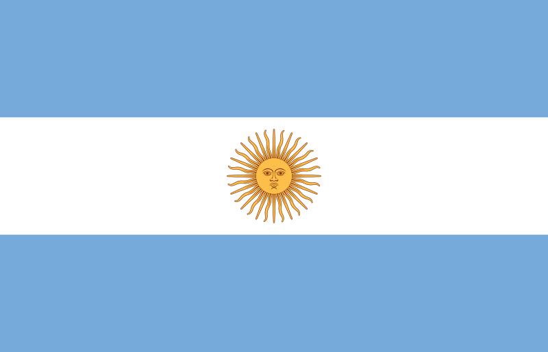 Argentinas flagga.