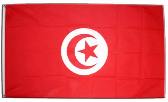 Tunisiens flagga.