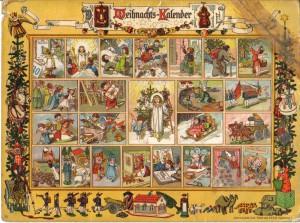 En tysk adventskalender från början av 1900-talet.