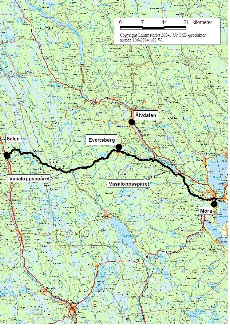 Vasaloppet är 90 km långt. Det är nästa lika långt som mellan Malmö och Simrishamn.
