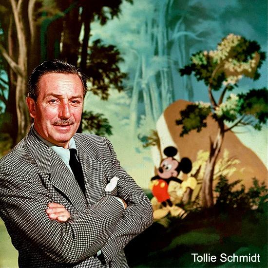 Walt Disney var mannen bakom Disney.