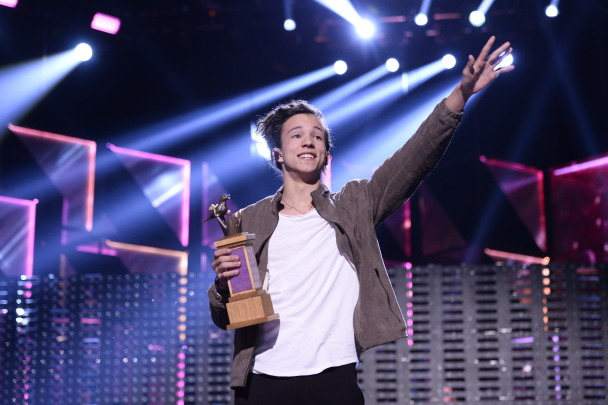 Frans vann Melodifestivalen. Foto: Stina Stjernkvist /SVT