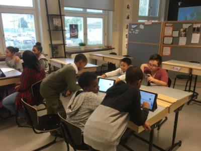 Elever på Sofielundsskolan i Malmö.