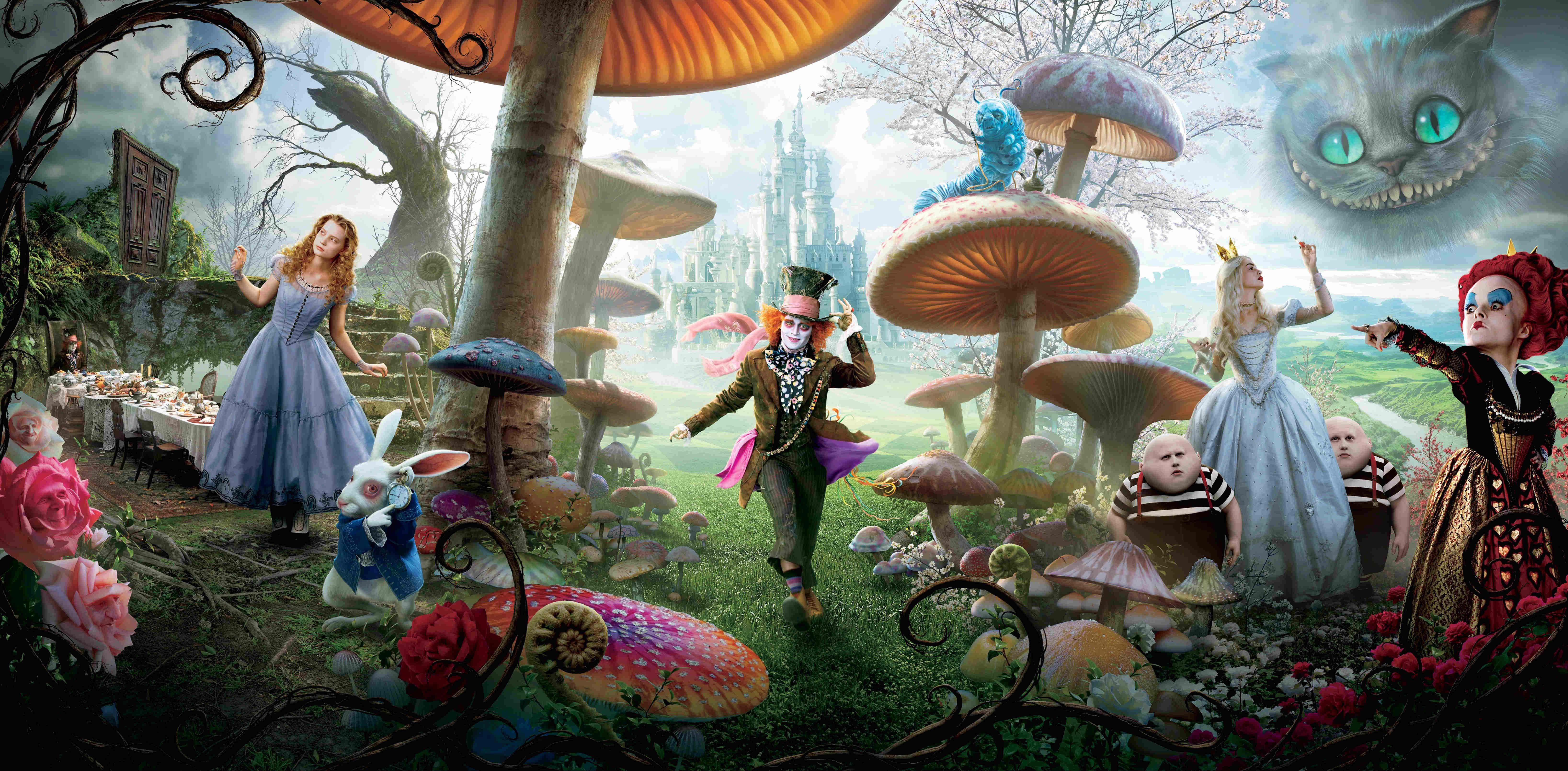 Alice i Underlandet är en av de mer kända filmerna med 3D-effekter idag.