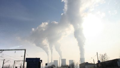 Rök från en fabrik.