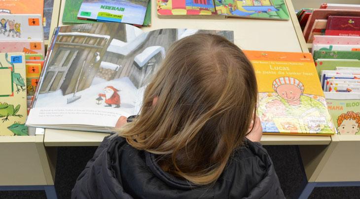 Ett barn som läser en bilderbok