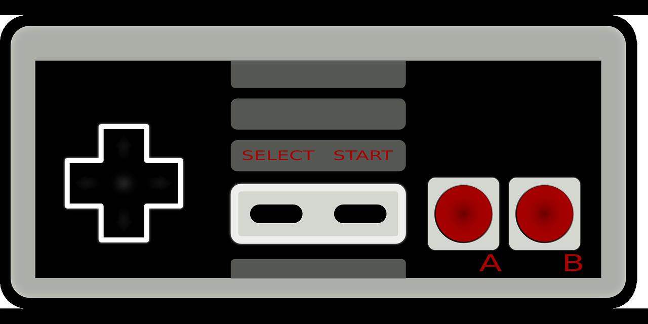 Nintendo entertainment system var en av de första populära konsolerna. Här kan du se en kontroll till konsolen.