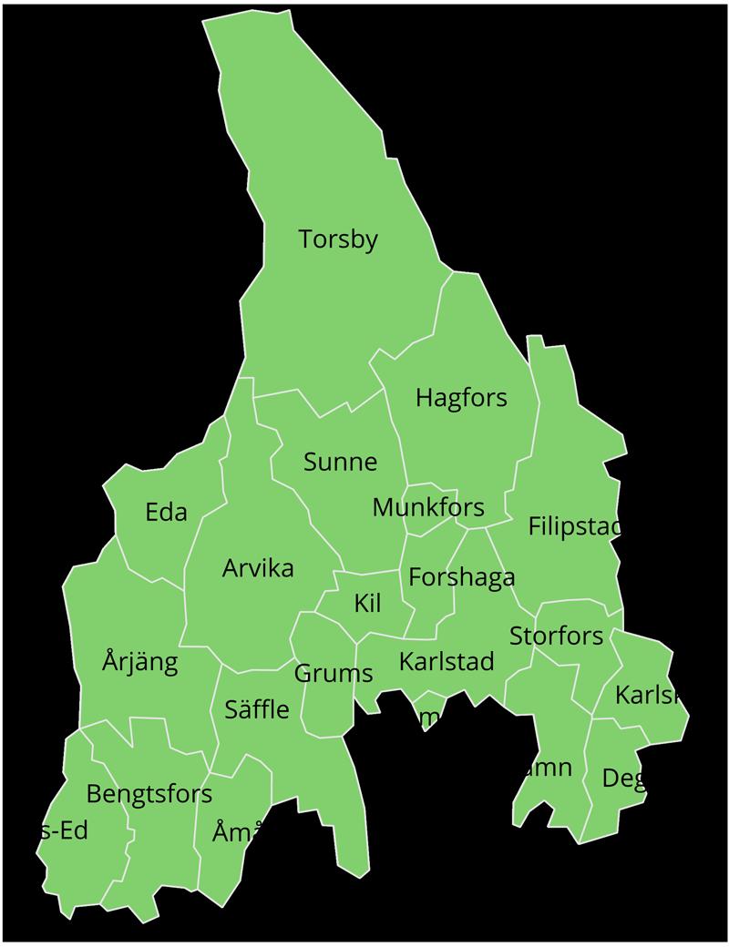 Kommuner i Nya Wermlands-Tidningens spridningsområde: Arvika, Bengtsfors, Eda, Dals-Ed, Degerfors, Filipstad, Forshaga, Grums, Hagfors, Hammarö, Karlskoga, Karlstad, Kils, Kristinehamn, Munkfors, Storfors, Sunne, Säffle, Torsby, Åmål och Årjäng.