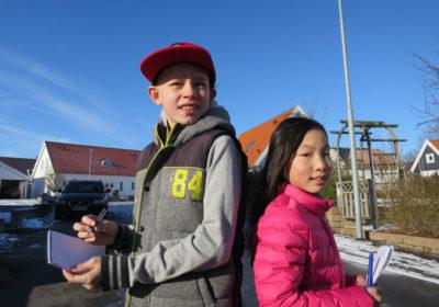 Isak och Alma som minireportrar
