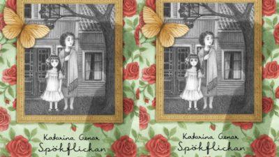 Ett gammalt fotografi är inramat i mitten av bokomslaget. Fotografiet föreställer två kvinnor och är helt i svart och vitt.