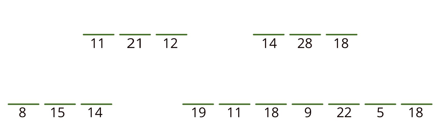11 21 12 nytt ord 14 28 18 nytt ord 8 15 14 nytt ord 19 11 18 9 22 5 18