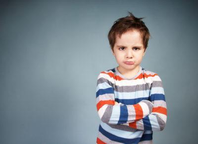 En arg pojke