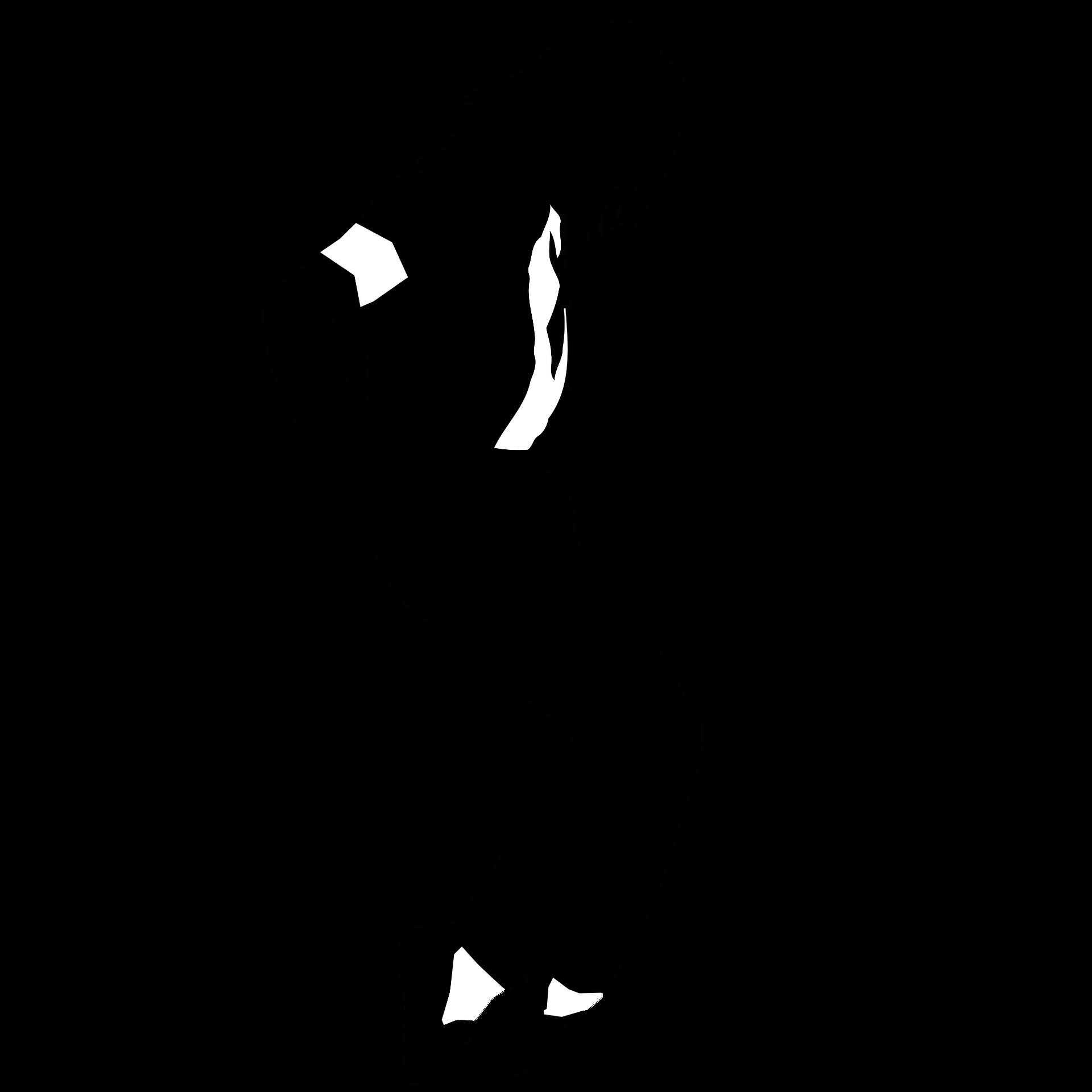 Michael Jacksons siluett som dansar.