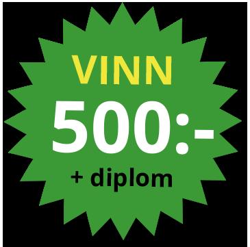 Vinn 500 kronor plus diplom
