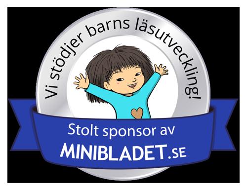 Vi stödjer barns läsutveckling! Stolt sponsor av MiniBladet.se
