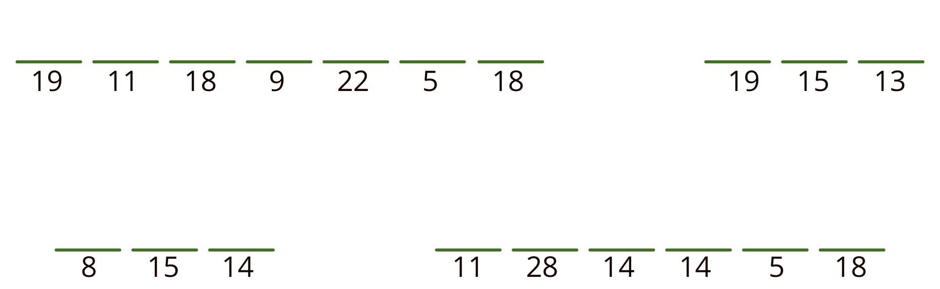 19 11 18 9 22 5 18 nytt ord 19 15 13 nytt ord 8 15 14 nytt ord 11 28 14 14 5 18