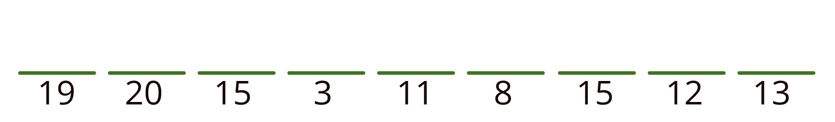 19 20 15 3 11 8 15 12 13