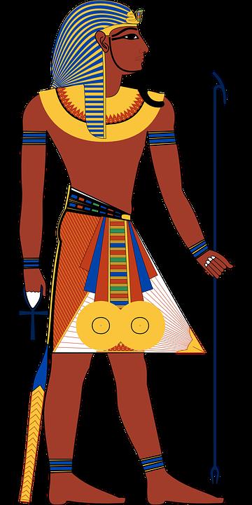 En tecknad Egyptisk Farao.