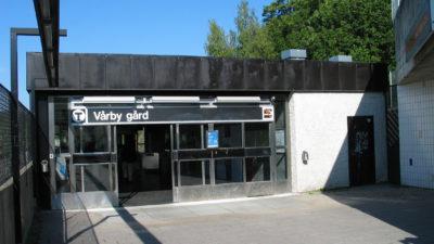 En tunnelbanestation i Vårby