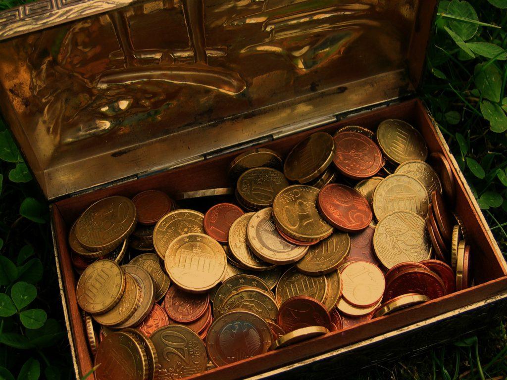 Mynt i en kista