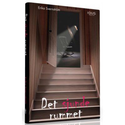 Bild på omslaget till boken. Det är mörkt och mystiskt med en trappa i halvskugga.