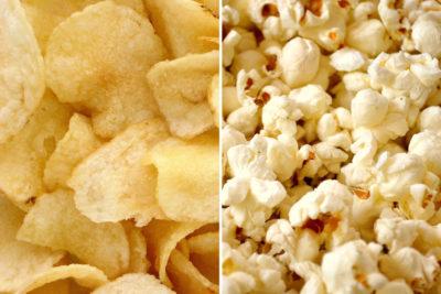 Chips och popcorn