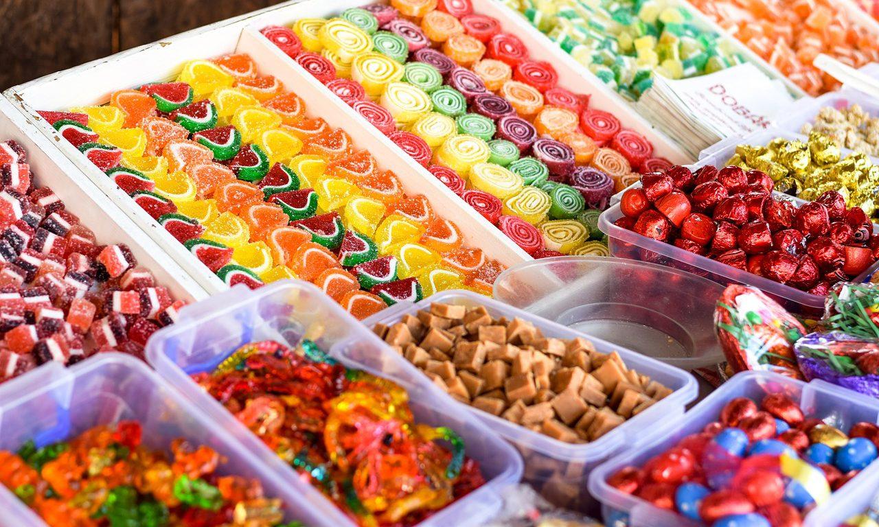 Godis i olika former och färger.