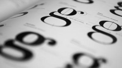 Bokstaven G i olika typsnitt