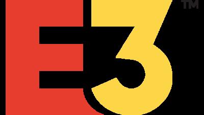 E3:s logga. Den består av ett stort rött E och en stor gul trea.