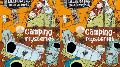 Lasse och Maja undersöker ett tält.