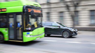 En grön buss