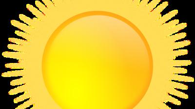 En tecknad sol.