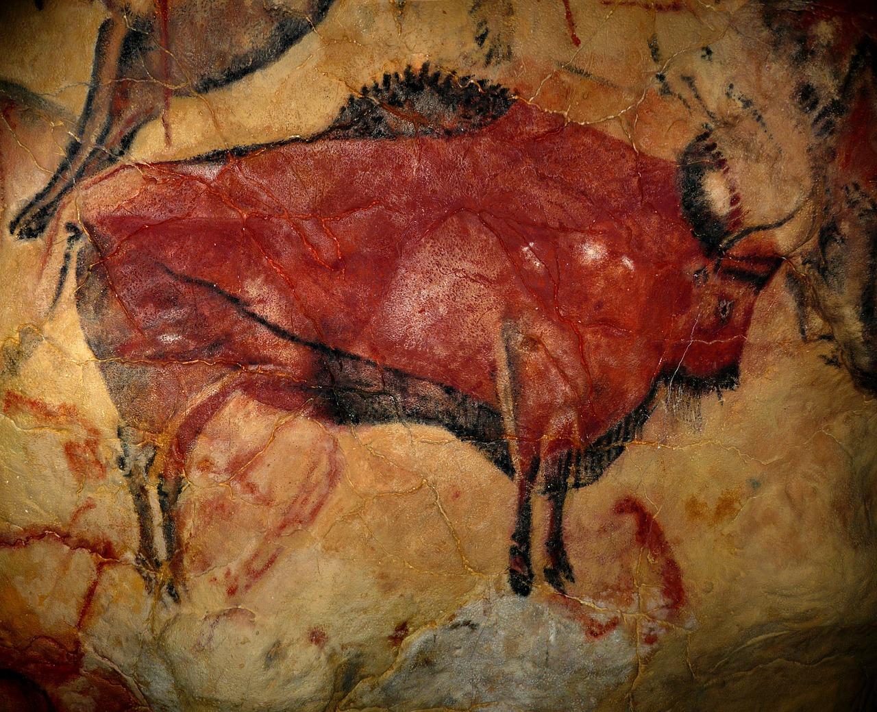 En grottmålning på en oxe