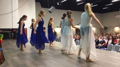 Foto från uppträdande på Barntandvårdsdagar 2018 i Ronneby.