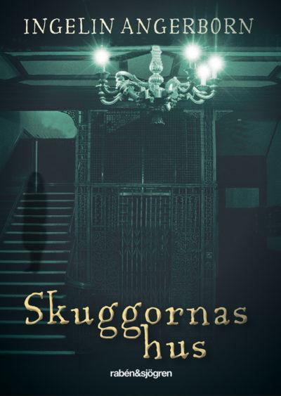 Bokens framsida har en mörk hiss och en ljuskrona.