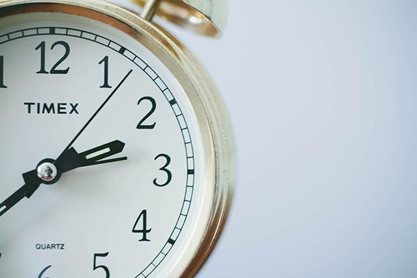 Foto på en klocka.