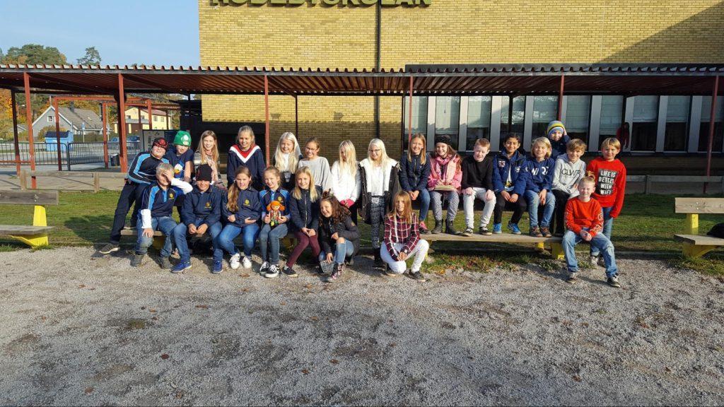 Hela vår klass med de Sydafrikanska eleverna, Zohan, Michael, Maggie, Mieke och Kaleb.