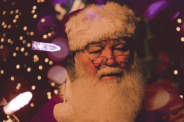 Foto på jultomten