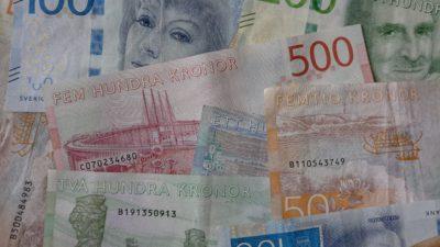 Sveriges alla sedlar. Från 20-lappen till 1000-lappen.