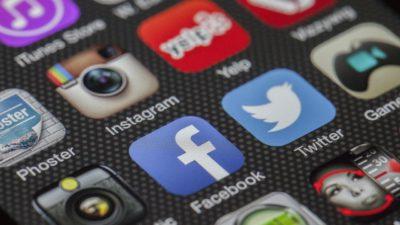 Flera olika sociala medier appar