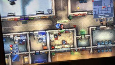 Bild av datorskärm med ett pågående spel av The Escapists 2.