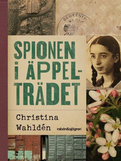 Bokens framsida. Rubriken står i stora bokstäver. Bredvid är det en gammal bild på en flicka och en bild på några blommor.