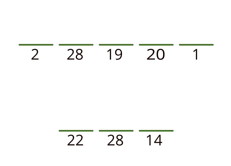 2 28 19 20 1 nytt ord 22 28 14