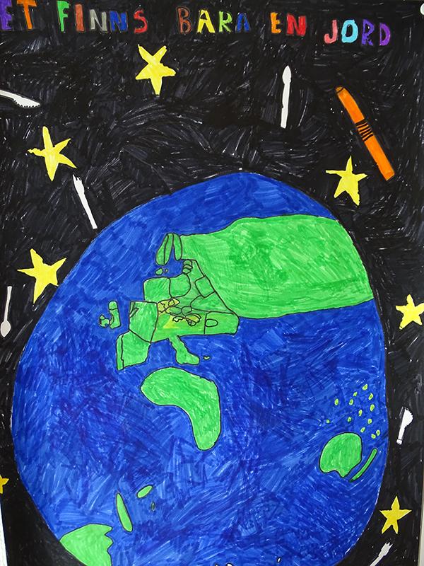 Teckning av jordklotet