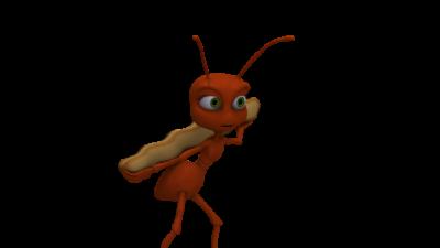En tecknad myra